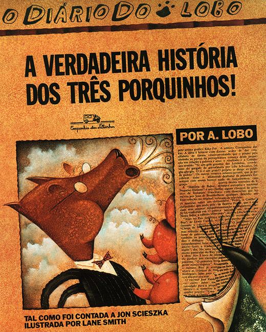 as melhores histórias de contos de fadas: a verdadeira historia dos três porquinhos jon scieszka lane smith