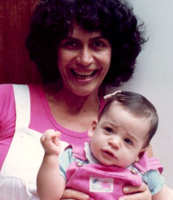 Ana Maria Machado com sua filha Luiza