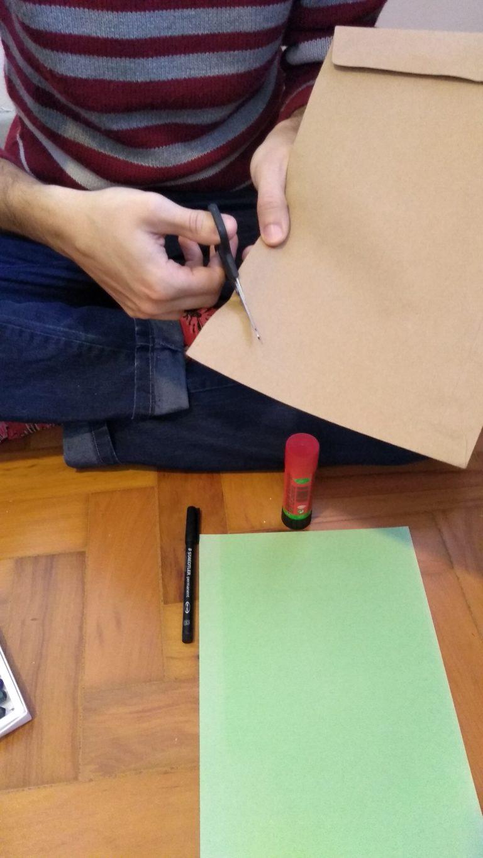 como fazer um marca páginas