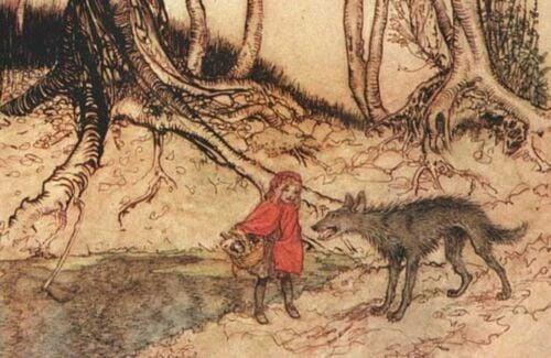 Personagens de contos de fadas: História da Chapeuzinho Vermelho