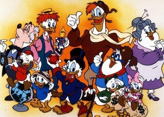 Desenhos dos anos 80. DuckTales. Os Caçadores de Aventuras