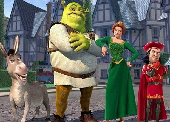 Filmes de comédia infantil para assistir. Shrek, burro e Fiona