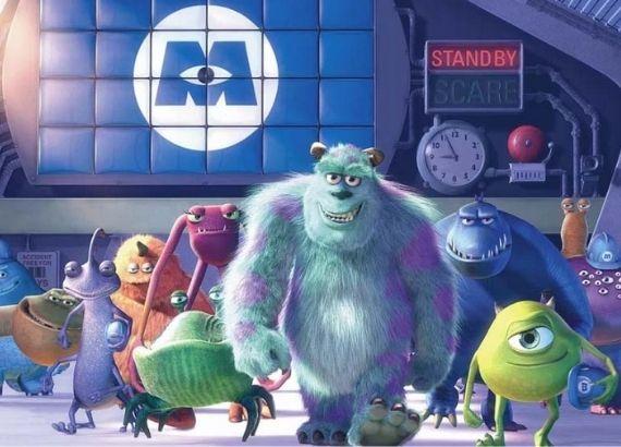 Filmes de comédia infantil. Filmes Monstros S.A. personagens Sully e Mike