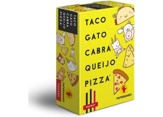Jogos de tabuleiro para família. Jogo Taco, Gato, Cabra, Queijo, Pizza