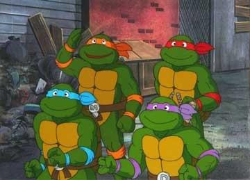 Desenhos dos anos 80. As tartarugas ninjas
